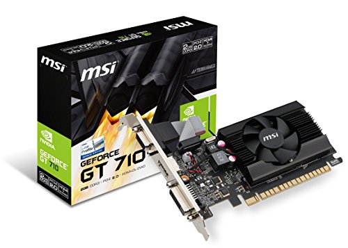 MSI Gaming GeForce GT 710 2GB GDRR3 64-bit HDCP Give a boost to DirectX 12 OpenGL 4.5 Single Fan Low Profile Graphics Card (GT 710 2GD3 LP)