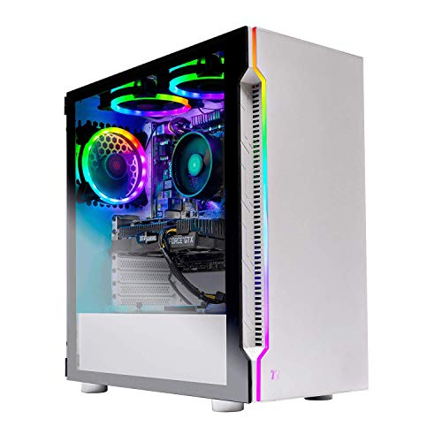 Skytech Archangel Gaming Computer PC Desktop – RYZEN 5 2600 6-Core 3.4 GHz, GTX 1660 6G, 500GB SSD, 16GB DDR4 3000MHz, RGB Fans, Windows 10 Dwelling