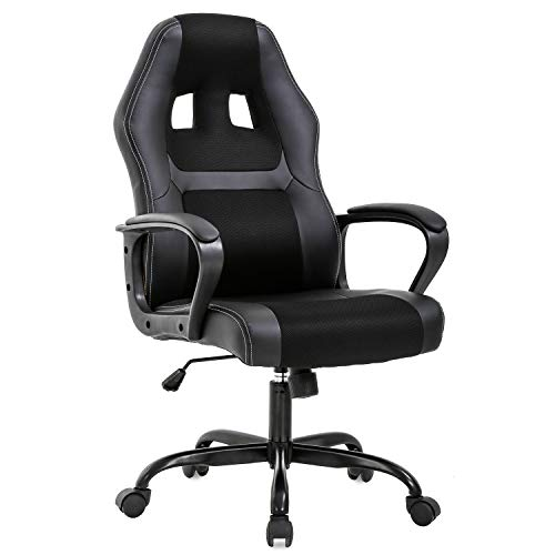 Procedure of labor Chair PC Gaming Chair Desk Chair Ergonomic PU Leather-essentially based entirely Govt Computer Chair Lumbar Pork up for Females, Males(Dark)