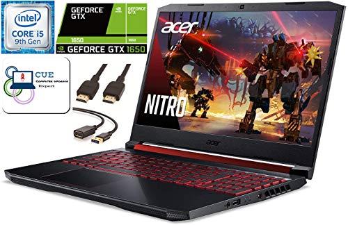 Acer Nitro 5 15.6 FHD Gaming Notebook computer, ninth Gen Intel Quad Core i5-9300H, NVIDIA GeForce GTX 1650, 8GB DDR4 RAM, 256GB NVMe SSD, WiFi 6,