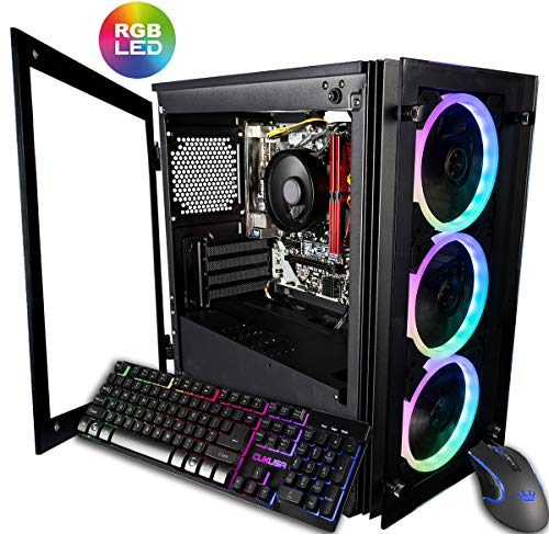 CUK Stratos Micro Gaming Desktop (AMD Ryzen 3 3200G + Radeon Vega 8 Graphics, 16GB 3000MHz DDR4 RAM, 512GB NVMe SSD, 500W PSU, No OS) Gamer PC Pc