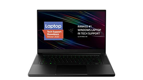 Razer Blade 15 Gaming Computer pc 2020: Intel Core i7-10750H 6 Core, NVIDIA GeForce RTX 2070 Max-Q, 15.6″ FHD 1080p 144Hz, 16GB RAM, 512GB SSD,