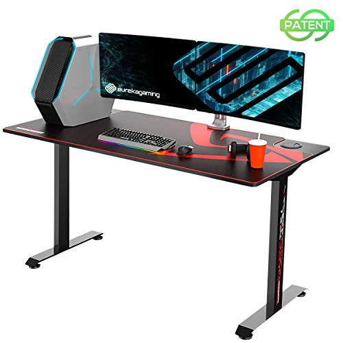 EUREKA ERGONOMIC Gaming Desk 2 Folks 60 Inches Favorable Pc Desk Gaming T-Formed Dwelling Region of business PC Pc Writing Table with Stout-Lined Mouse Pad In style Gift for E-Sports Lover Sad