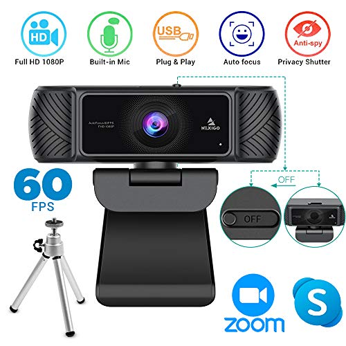2020 1080P 60FPS Webcam with Microphone, Privateness Duvet and Tripod, NexiGo Legit USB HD Laptop Web Digicam w/Mic Video Cam for Skype Zoom Streaming Gaming Conferencing,