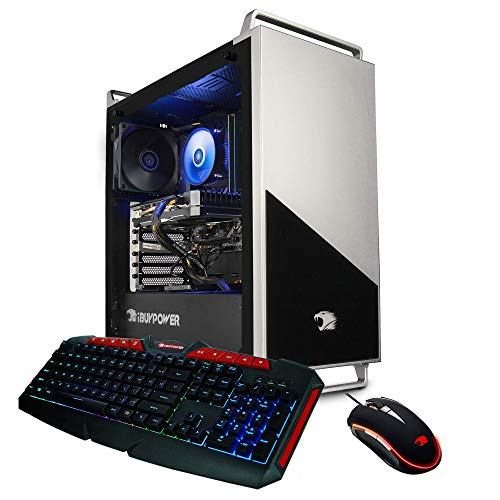 iBUYPOWER Pro Gaming PC Computer Desktop 136A (AMD Ryzen 5 3600 3.6GHz, NVIDIA RTX 2060 6GB, 16GB DDR4 RAM, 240GB SSD, 1TB HDD, WiFi Ready,
