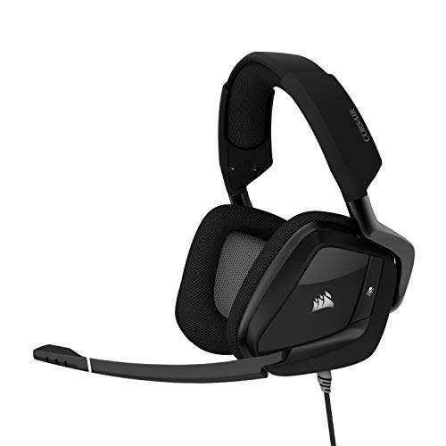 CORSAIR VOID PRO RGB USB Gaming Headset – Dolby 7.1 Encompass Sound Headphones for PC – Discord Licensed – 50mm Drivers – Carbon