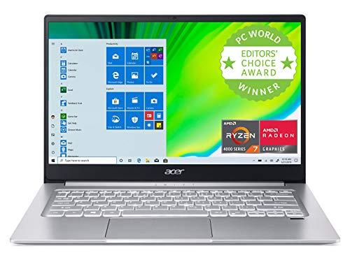 Acer Swift 3 Skinny & Light Pc computer, 14″ Corpulent HD IPS, AMD Ryzen 7 4700U Octa-Core with Radeon Graphics, 8GB LPDDR4, 512GB NVMe SSD,