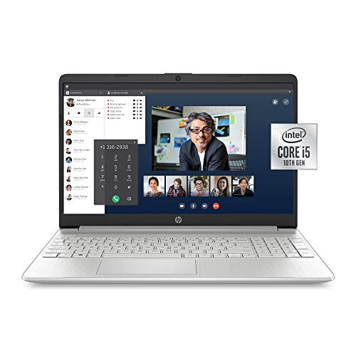 HP 15-Scurry FHD Laptop, 10th Gen Intel Core i5-1035G1, 8 GB RAM, 256 GB Get hang of-Order Drive, Windows 10 Residence (15-dy1036nr, Pure Silver)
