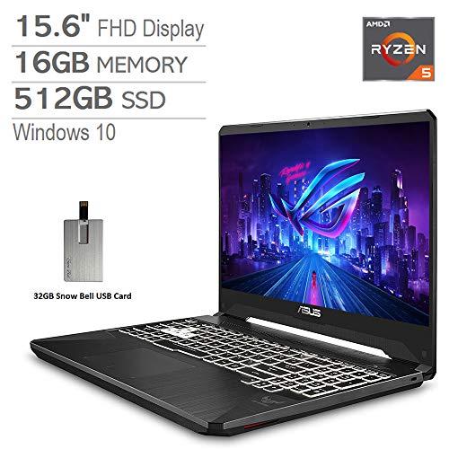 2020 ASUS TUF 15.6″ FHD LCD Gaming Computer laptop Computer, AMD Ryzen 5-3550H, 16GB RAM, 512GB PCIe SSD, Backlit Keyboard, GeForce GTX 1650 Graphics, DTS Audio,