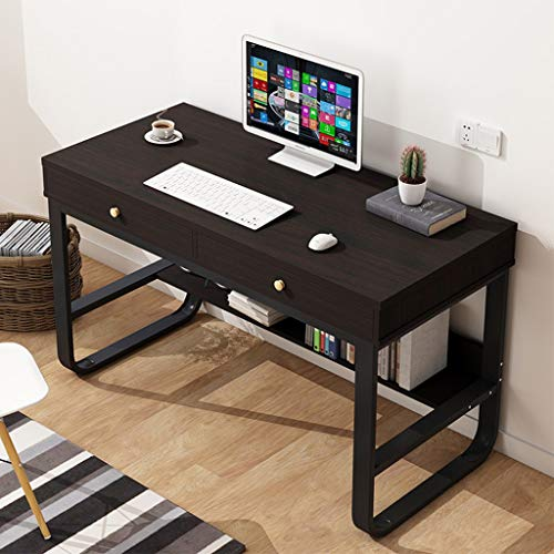 """47"""" Desktop Pc Desk with 2 Drawers, Residence Put of job Multi-Layer Storage Be taught about Writing Table Pc Gaming Table Bedroom Pc Be taught about Table Bookcase (47"""","""
