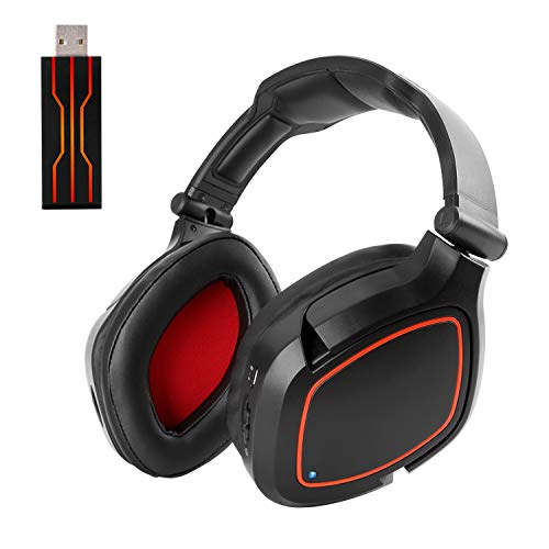 HUHD USB Wi-fi Gaming Headset for PS4 PC Laptop Nintendo Switch PS4 Slim with Mic Digital 7.1 Surround Sound and Stereo Over Ear