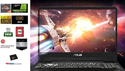 Asus TUF FX505DT 15.6 FHD Gaming Notebook computer AMD Ryzen 5 3550H Quad Core up to three.7GHz 16GB DDR4 RAM 512GB M.2 PCIe SSD NVIDIA GeForce GTX 1650 RGB Backlit Keyboard Webcam HDMI Windows 10 Aloha Bundle
