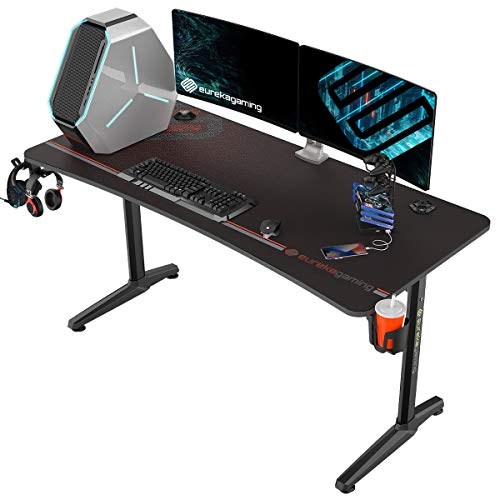 EUREKA ERGONOMIC Gaming Desk Captain Series House Situation of job Computer Gaming Desk Mouse Pad Recent Polygon Legs Make (60 fade, Shaded)