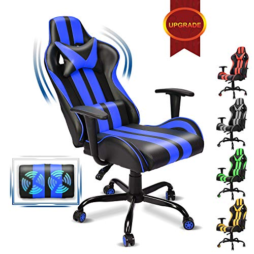 Racing Trend PC Computer Chair,Computer Gaming Chair, E-Sports Chair,Ergonomic Narrate of enterprise Chair with High Adjustment,Headrest and Rubdown Lumbar Pork up(Navy Blue)