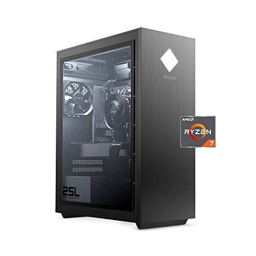 OMEN 25L Gaming Desktop PC, AMD Radeon RX 5500, AMD Ryzen 7 3700X, HyperX 16GB DDR4 RAM, 512GB PCIe NVMe SSD, Windows 10 Residence, VR Ready,