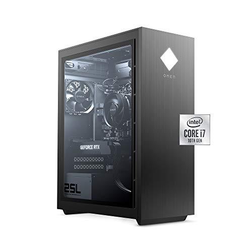OMEN 25L Gaming Desktop PC, NVIDIA GeForce RTX 2060, Intel Core i7-10700F, HyperX 16 GB DDR4 RAM, 1 TB HDD & 512 GB PCIe NVMe SSD,
