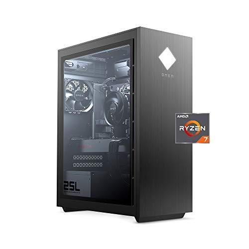 OMEN 25L Gaming Desktop PC, AMD Radeon RX 5700, AMD Ryzen 7 3700X, HyperX 16 GB DDR4 RAM, 1 TB SATA Robust Power & 512 GB PCIe NVMe SSD,