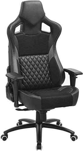 Substantial and Succesful Computer Gaming Chair- Adjustable Space of industrial Chair with 4D Armrests and Headrest, Ergonomic Desk Chair, Swivel Drafting Activity Chair with Tilt Lock,