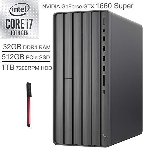 2020 HP Envy VR Ready Gaming Desktop Computer_ tenth Gen Intel Octa-Core i7-10700F_ 32GB DDR4 RAM_ 1TB HDD+ 512GB PCIe SSD_ DVDRW_ NVIDIA GeForce GTX 1660 Gracious 6GB_ Windows 10,