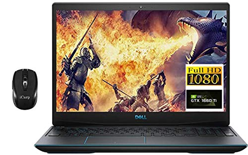 2020 Top rate Dell G3 15 3590 Gaming Pc, 15.6″ 1080p FHD, ninth Gen Intel Quad-Core i5-9300H (Beats i7-7700HQ), 32GB DDR4 512GB PCIe SSD, 6GB GTX 1660Ti Max-Q Backlit Seize 10 + iCarp Wi-fi Mouse