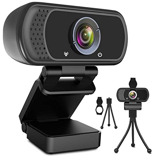 Webcam HD 1080p Web Camera, USB PC Pc Webcam with Microphone, Notebook computer Desktop Fleshy HD Camera Video Webcam 110-Level Widescreen, Pro Streaming Webcam for Recording,