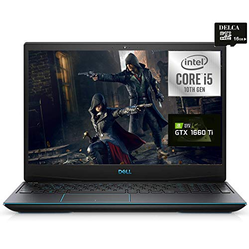 Dell G5 15 2020 Top payment Gaming Notebook computer I 15.6″ FHD I Intel 4-core i5-10300H (I7-8850H) I 64GB DDR4 1TB SSD I GeForce GTX1660 Ti 6GB Backlit Thunderbolt Webcam + Delca 16GB Micro SD Card