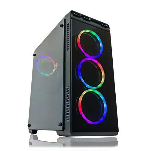 Alarco Gaming PC Desktop Computer Intel i5 3.10GHz,8GB Ram,512GB SSD Storage,Windows 10 pro,WiFi Ready,Video Card Nvidia GTX 650 1GB, 4 RGB Fans