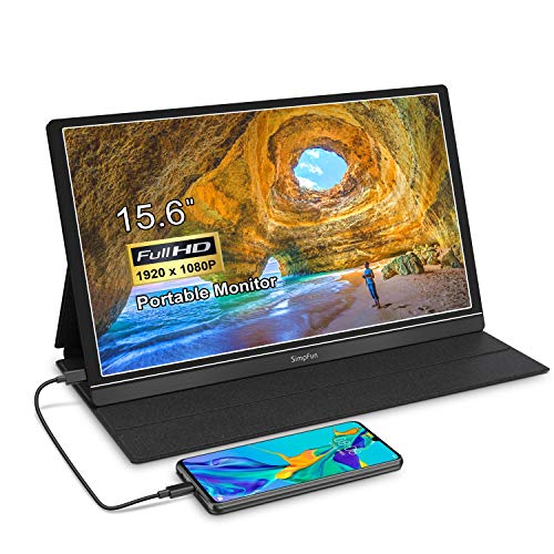 Transportable Visual display unit 15.6 Stride Pc Demonstrate Extremely Slim IPS Gaming Visual display unit, with HDMI/USB Kind-C Port and Give protection to Make stronger Case,