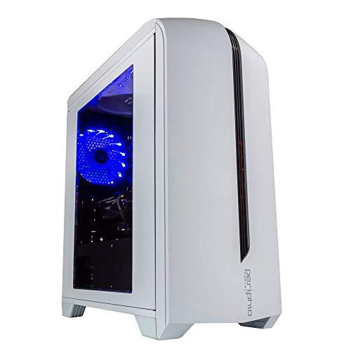 Periphio Portal Gaming PC Desktop Computer Tower, Intel Quad Core i5 3.2GHz, 8GB RAM, 128GB SSD + 500GB 7200 RPM HDD, Home windows 10, AMD Radeon RX570 4GB DDR5,