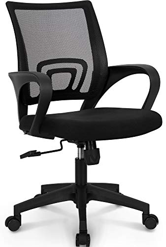 NEO CHAIR Place of job Chair Computer Desk Chair Gaming – Ergonomic Mid Succor Cushion Lumbar Pork up with Wheels Chuffed Blue Mesh Racing Seat Adjustable Swivel Rolling Home Executive,