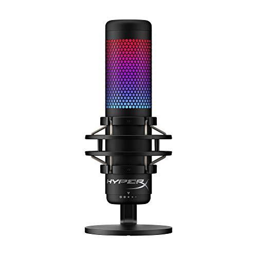 HyperX QuadCast S – RGB USB Condenser Microphone for PC, PS4 and Mac, Anti-Vibration Shock Mount, Four Polar Patterns, Pop Filter, Fracture Retain watch over,
