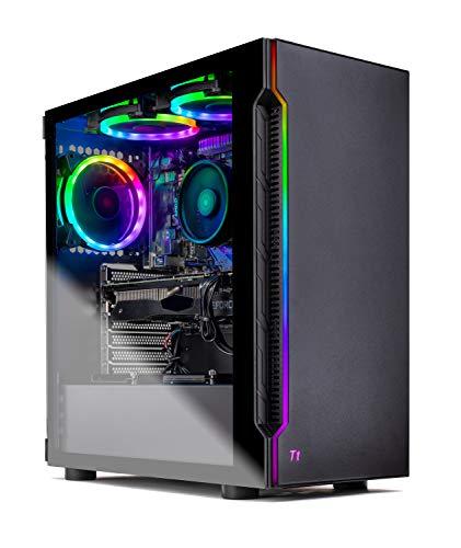 Skytech Shadow Gaming Computer PC Desktop – AMD Ryzen 3 3100, GTX 1660 6G, 16GB DDR4 3000, 1TB SSD, A520 Motherboard, 500W PSU, Gloomy