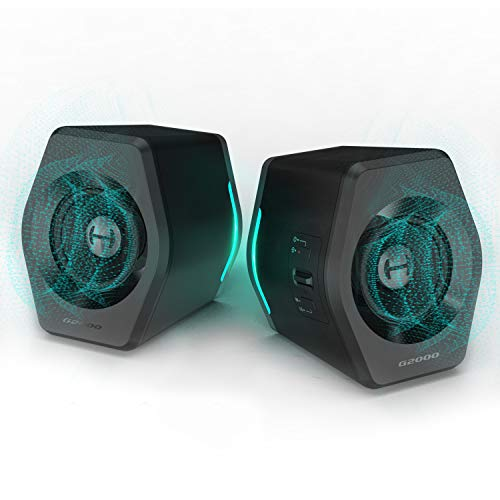 Edifier G2000 PC Computer Audio system for Desktop, Gaming, Computer, Mac,Woofer Audio system Bluetooth, Bass Multimedia Audio system USB with subwoofer, RGB Lights, 3.5mm AUX inputs,Unlit