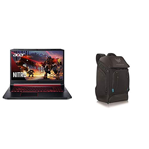 Acer Nitro 5 Gaming Notebook computer, Ninth Gen Intel Core i7-9750H with Acer Predator Utility Gaming Backpack