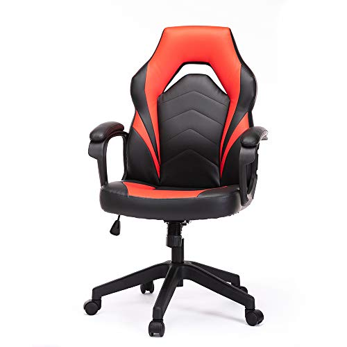 Gaming Chair, Racing Vogue Ergonomic Executive Computer Online page online of industrial Chair Bonded Leather-based mostly with Lumbar Give a enhance to and Padding Armrest,Crimson