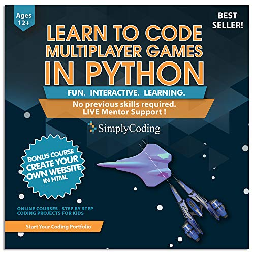 Coding for Formative years: Be taught to Code Python Multiplayer Wander Games – Video Game Originate Coding Instrument – Computer Programming for Formative years, Ages 12-18,