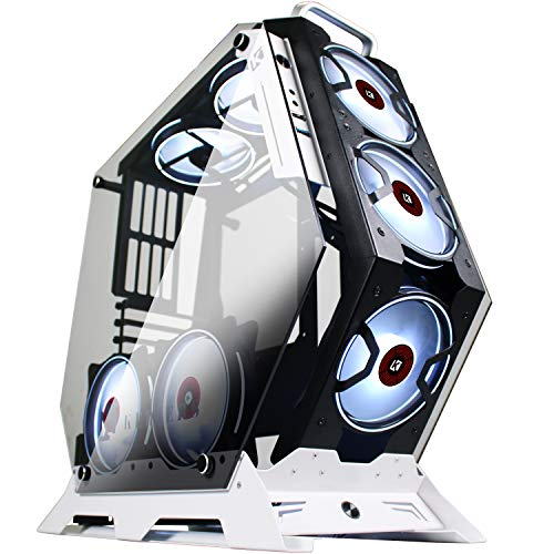 KEDIERS 7 PCS RGB Fans ATX Mid-Tower PC Gaming Case Delivery Laptop Tower Case – USB3.0 – Some distance flung Modify – 2 Tempered Glass – Cooling Machine – Airflow – Cable Management (7 RGB Fans,