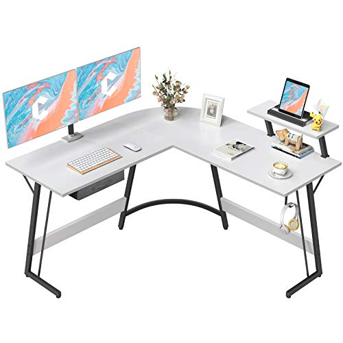 CubiCubi L-Fashioned Desk Computer Nook Desk, 50.8″ Dwelling Gaming Desk, Situation of job Writing Peek Workstation with Sizable Video display Stand, Pickle-Saving, Easy to Assemble