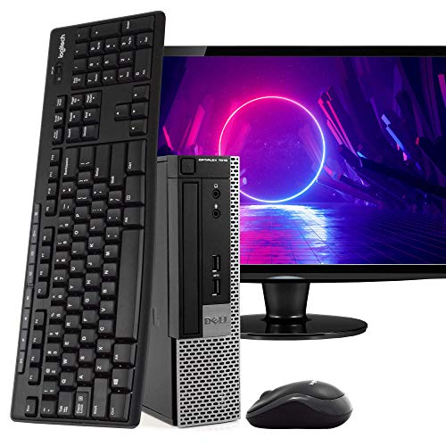 Dell OptiPlex 7010 Extremely Cramped Space Saving PC Desktop Computer, Intel i5, 8GB RAM 500GB HDD, Home windows 10 Professional, 24″ LCD Be conscious, New 16GB Flash Drive,