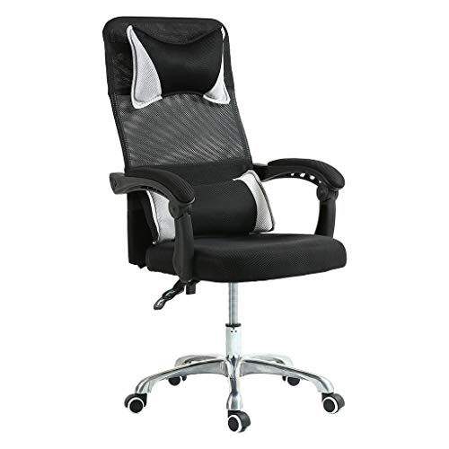 shamolutuo Set up of business Chair Leather-based mostly totally Mesh Govt Swivel Breathable High Aid Set up of business Desk Chair Adjustable Comfort and Ergonomic Scheme for Lumbar Abet Head Pillow Computer Gaming Chair (Murky)