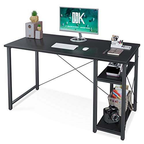ODK Laptop Desk with Storage Shelves,Office Writing Desk with Multi-Functional Shelves,47 Gallop Shadowy