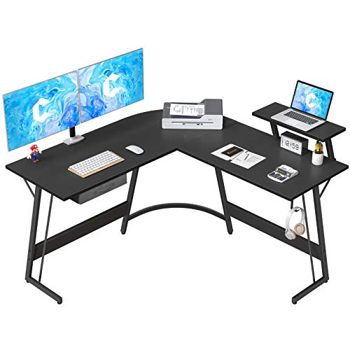 CubiCubi L-Formed Desk Pc Nook Desk, 50.8″ Dwelling Gaming Desk, Intention of business Writing Discover about Workstation with Big Video display Stand, Condo-Saving, Easy to Assemble