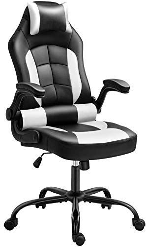 Gaming Chair, Cadcah Ergonomic Computer Chair Reclining High Help Office Chair Prime Adjustment Desk Chair with Armrests Headrest and Lumbar Enhance PC Gaming Chair for Adults Children Men Ladies folk