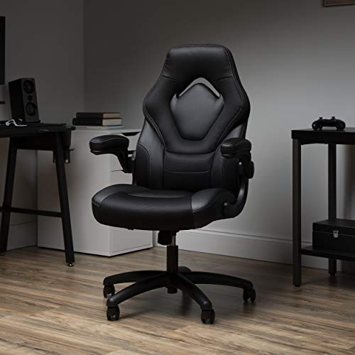 OFM ESS Assortment Racing Style Gaming Chair, Excessive Serve, Black