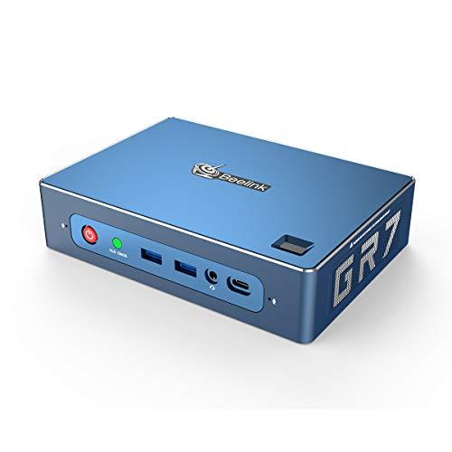 Beelink GTR Mini PC Windows 10 Pro,AMD Ryzen 7 3750H Processor(as much as 4GHz) 16GB DDR4 512GB NVMe SSD,Radeon Vega 8 Graphics,WiFi 6,Bluetooth 5.0,Dual Gigabit Ethernet,Gaming PC