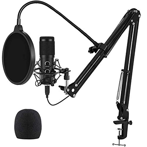 2021 Upgraded USB Microphone for Laptop, Mic for Gaming, Podcast, Are dwelling Streaming, YouTube on PC, Mic Studio Bundle with Adjustment Arm Stand, Matches for Dwelling windows & Mac PC,