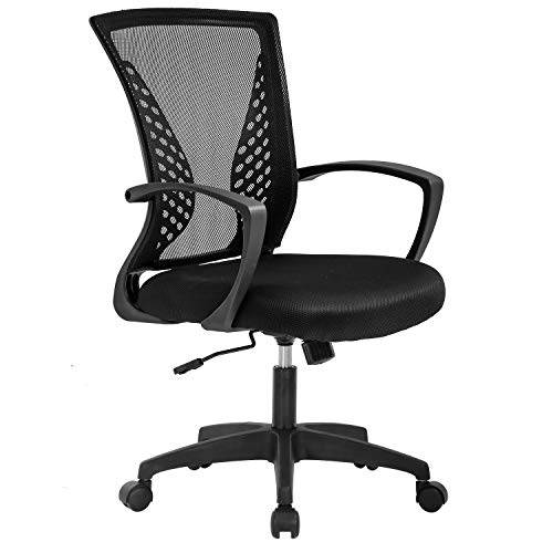 Vnewone Ergonomic Place of enterprise Chair Desk Pc Mesh Govt Job Rolling Gaming Swivel Up to the moment Adjustable with Mid Support Lumbar Strengthen Armrest for Home Females Men,