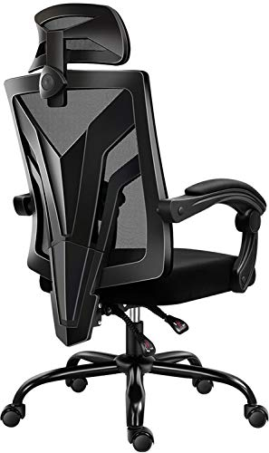 Workplace Chair, Cadcah Ergonomic Dwelling Workplace Desk Chair Mesh Workplace Chair with Adjustable Headrest Swivel Pc Chair Lumbar Toughen High Encourage Chair for Adults Males Females