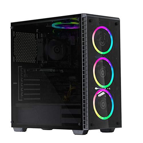 MXZ Gaming PC Computer, Ryzen 3 3100, 3.6GHz, GTX1650 4GB, 256G SSD, 8GB DDR4, with WiFi & Windows 10 Professional
