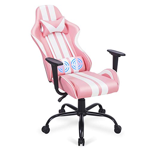 Ferghana Pink Gaming Chair,Laptop Sport Chair,Therapeutic massage Gaming Chair with Lumbar Increase,Video Sport Chairs for Adults Childhood for Gaming, Streaming,Podcasting(Shero Pink)